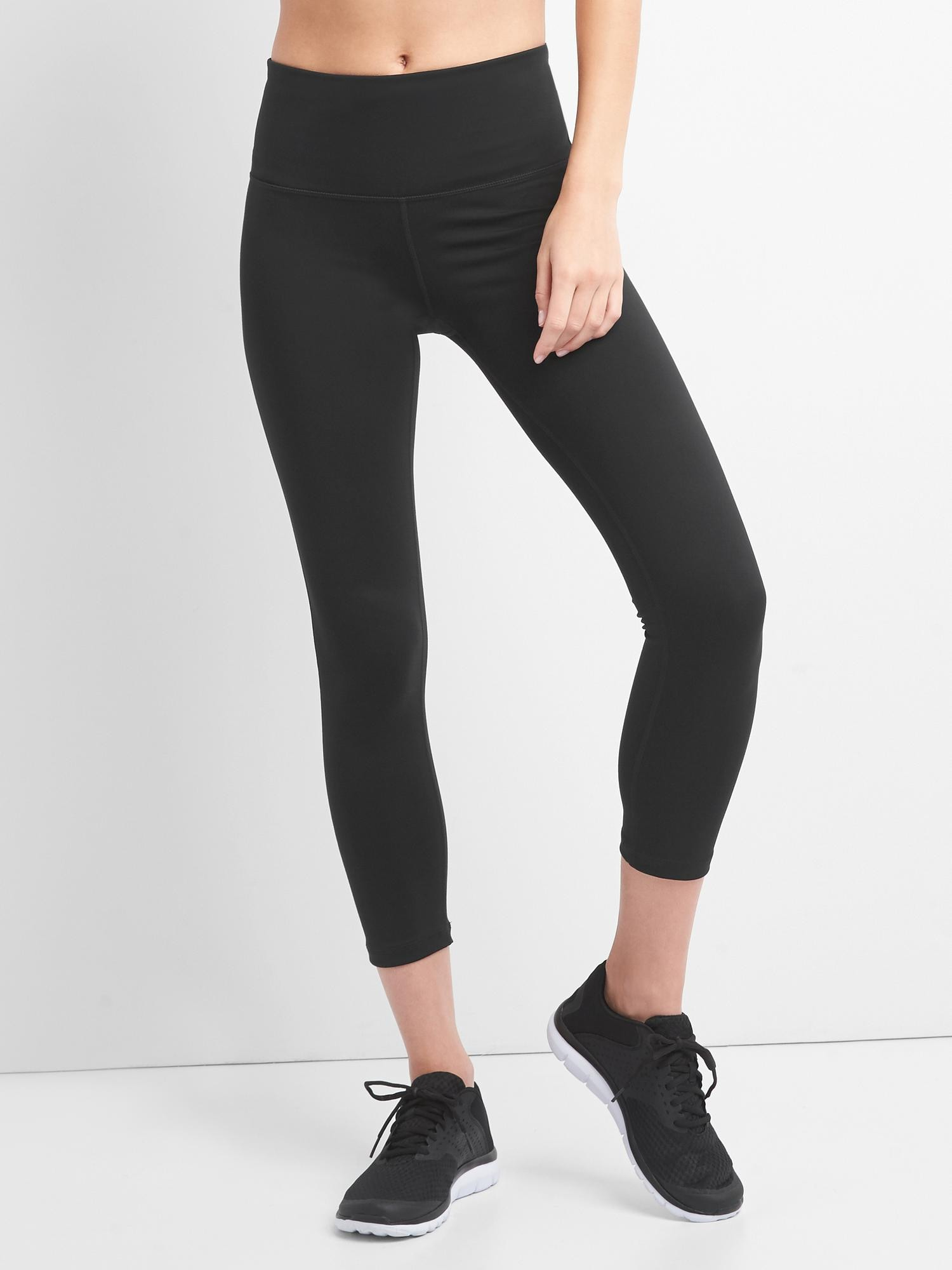 3499e4468de2f GapFit High Rise Blackout 7/8 Leggings | Gap
