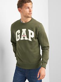 Logo fleece crewneck sweatshirt