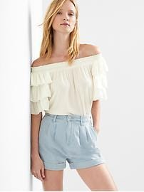 Ruffle tier sleeve top