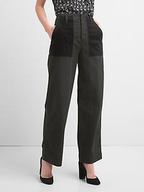 High rise utility boyfriend chinos