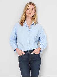 Poplin oversize cocoon shirt
