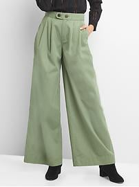 High rise wide-leg chinos