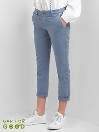 Girlfriend grommet chinos