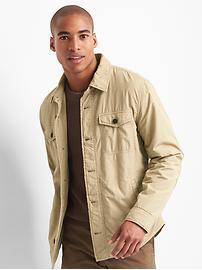 Fleece-lined shirt jacket