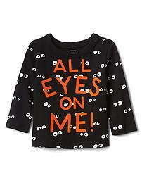 T-shirt d'Halloween à motif d'yeux effrayants