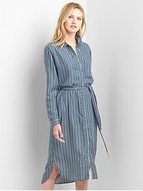 Stripe TENCEL&#153 midi shirtdress