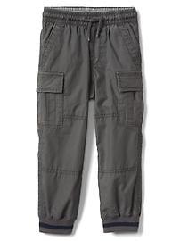 Pantalon cargo d'entraînement doublé en jersey