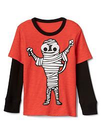 T-shirt 2en1 à imprimé d'Halloween