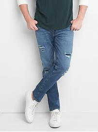 Destructed Jeans in Skinny Fit with GapFlex