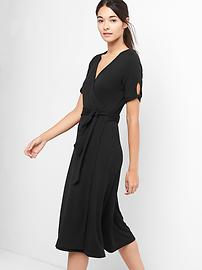 Softspun wrap midi dress