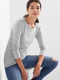 T-shirt rayé poids plume à encolure ras du cou