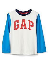 T-shirt à manches longues aux couleurs contrastantes avec logo