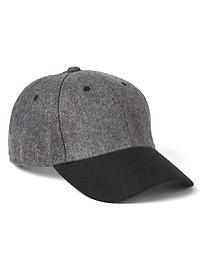 Tonal wool baseball hat