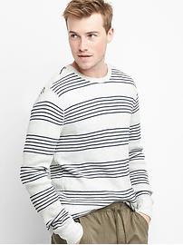 Stripe waffle-knit crewneck tee