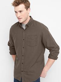 Chemise boutonnée à chevrons, coupe standard
