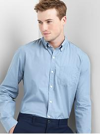 True wash poplin overdye slim fit shirt