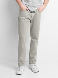 Twill athletic fit pants (stretch)