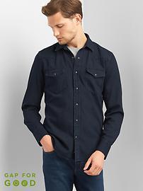 Western denim slim fit shirt