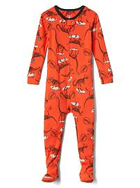 Skater dino footed sleep one-piece