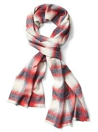 Shimmer plaid cozy scarf
