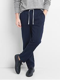 Double-knit pintuck pants