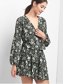Floral smock-waist dress