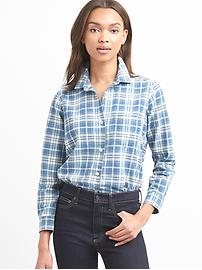 Denim plaid shirt