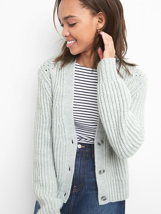 Textured Button Cardigan by Gap