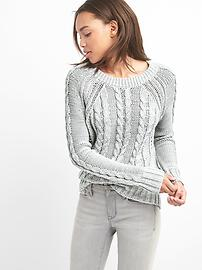 Raglan cable-knit pullover