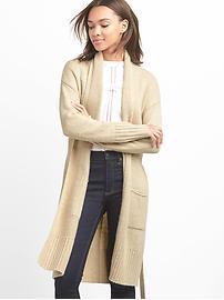 Cardigan avec ceinture et col châle