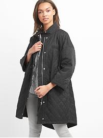 Quilted sateen parka