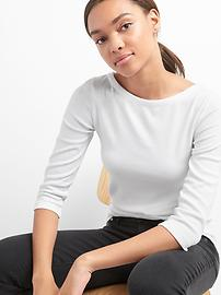 Modern Elbow Length Sleeve Ballet-Back T-Shirt in Supima&#174 Cotton