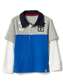 2-in-1 sporty slub polo