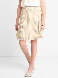 Shimmer waist pleated skirt