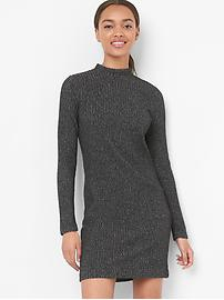 Long sleeve mockneck dress