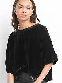 Velvet kimono top