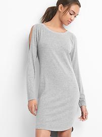 Softspun cold shoulder dress