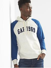 Logo baseball pullover hoodie