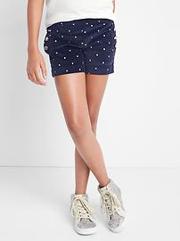 Velvet sailor shorts