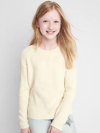 Chenille crew sweater