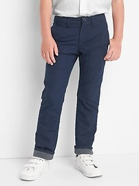 Flannel-lined chinos
