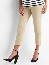 Maternity full panel utility chino