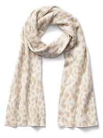 Écharpe douillette à motif léopard