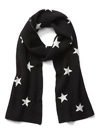 Écharpe à étoiles douillette