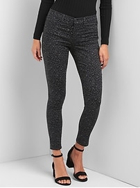 Mid rise leopard print ankle jeggings