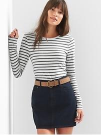 Featherweight stripe tunic