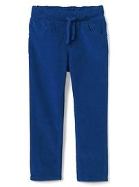 Pantalon en velours côtelé à enfiler, coupe étroite