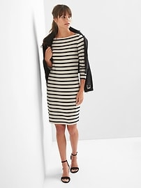 Stripe modern tee boatneck dress
