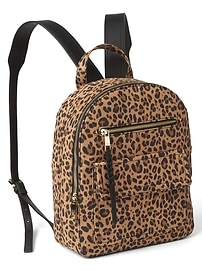 Leopard dome backpack