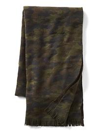 Cozy mix-print scarf
